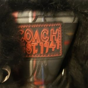 Coach Shoes - Coach Winter boots, size 8 B plaid Fur Trim